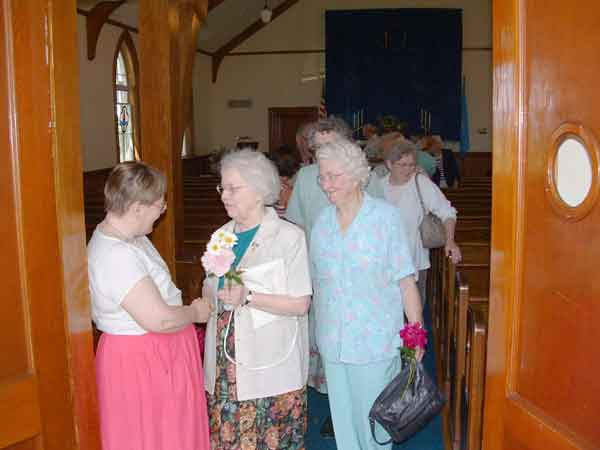 Photo of the flower communion.