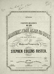 Title page of the song 'Hard Times Come Again No More'