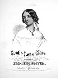 Title page from the song 'Lena Clare'