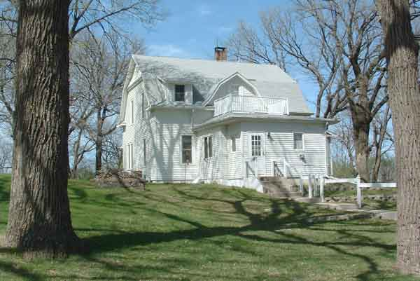 The south side of the parsonage